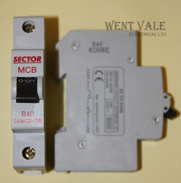 Sector SVMCB40/B - 40a Type B Single Pole MCB New